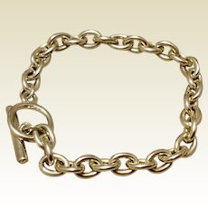 Vintage Sterling Silver Toggle Bracelet