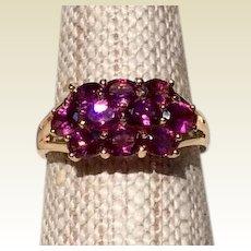 Vintage 14K Gold Pink Tourmaline Ring Size 6 3/4