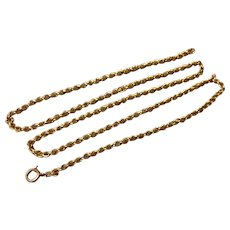 "Vintage 14K Yellow Gold 18"" Rope Chain - Red Tag Sale Item"