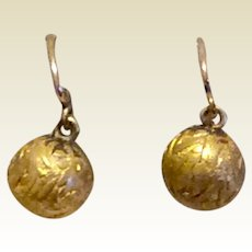 Antique Victorian Gold Filled Petite Dangle Earrings