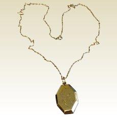 Vintage Gold Filled Locket & Decorative Chain