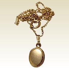 Vintage 14K Gold Filled Baby Locket & Chain