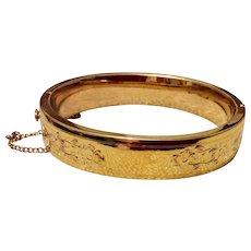 12K Gold Filled Bangle Bracelet