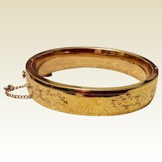12K Gold Filled Bangle Bracelet
