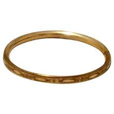 Vintage Gold Filled Hinged Child's Bangle Bracelet