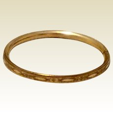 Vintage Gold Filled Hinged Child's Bangle Bracelet