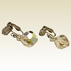 Laguna AB Crystal Faceted Earrings