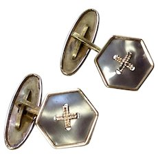 Art Deco Easy Fix Link Cufflinks