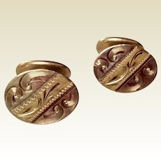 Victorian Gold Filled Etched Cufflinks