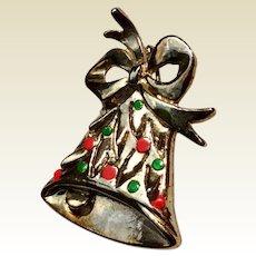 Holly Bell Christmas Brooch