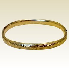 Gold Filled Bangle Bracelet