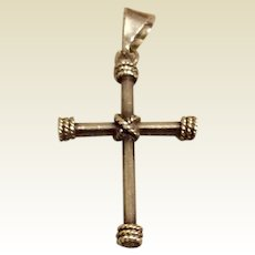Sterling Silver Beaded Cross
