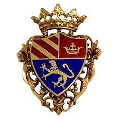 English Shield Brooch