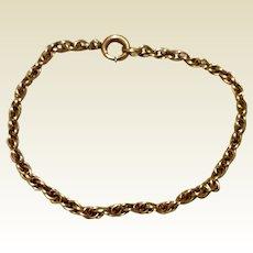 Vintage 12K Gold Filled Chain Bracelet