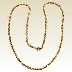 12K Gold Filled Twisted Chain Necklace