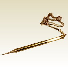 Sheaffer Mechanical Push Pencil Pendant Necklace