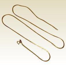 """14K Gold Serpentine Chain 20"""""""