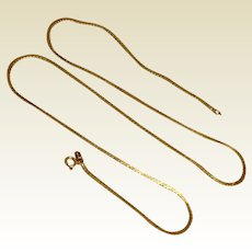 14K Gold Serpentine Chain 20""