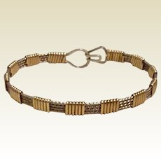 Silver & Gold Tone Medal Bracelet