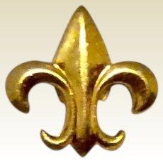 Gold Filled Lapel Pin Fleur d Lis