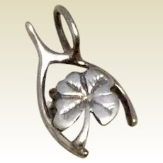 Sterling Silver Lucky Wishbone Charm