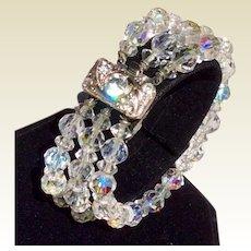 Triple Strand AB Crystal Bracelet