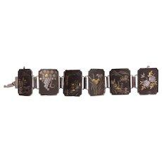 Damascene Amita Silver Bracelet Japan