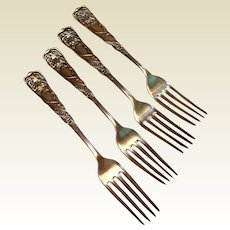Rogers Smith & Co. Set Of Four Silverplate  Forks