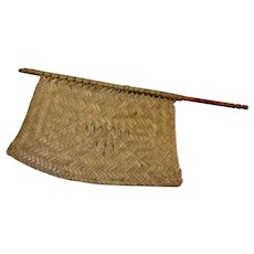 Ratan Antique Hand Woven Hand Fan