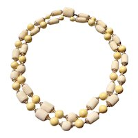 Japanese Sponge Coral Double Strand Necklace