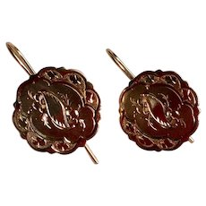 Gold Filled Vintage Cufflinks Earrings