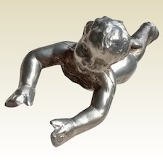 Victorian Spelter Baby Figure Great Detail