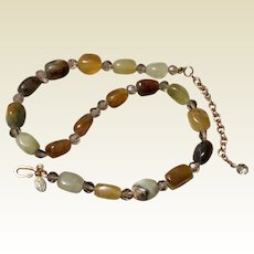 Jade & Agate Bead Kenneth J Lane Necklace