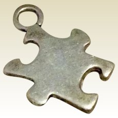Puzzle Piece Sterling Silver Charm