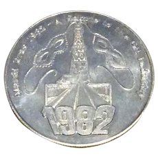 1982 A Salute To The Oil Industry Mardi Gras Doubloon
