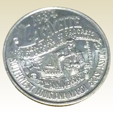 Southwest Louisiana Mardi Gras Association 1984 Mardi Gras Doubloon