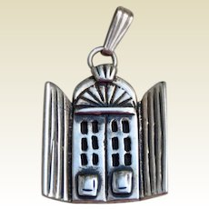 House Pendant (?) Sterling Silver