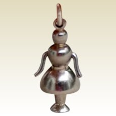 Marionette 3D Mechanical Sterling Silver Charm