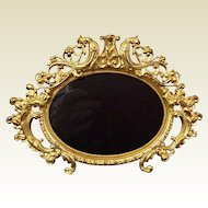 Antique French Ormolu Oval Photo Frame