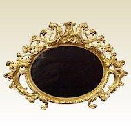 Antique French Ormolu Oval Photo Frame