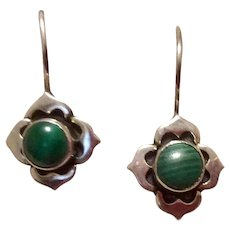 Sterling Turquoise Dangle Earrings