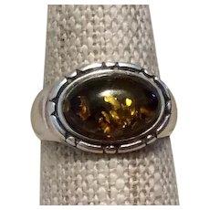 Tiger Eye Sterling Ring Size 7