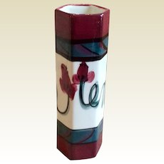 Retired Gail Pittman Red Grapevine Vase