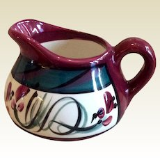 Retired Gail Pittman Red Grapevine Creamer