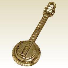 Sterling Silver Banjo Charm