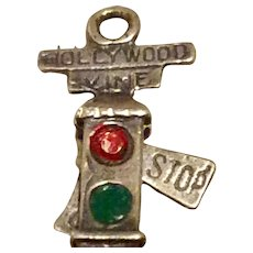 Hollywood & Vine Enameled  Sterling Silver Charm Mechanical