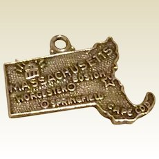 Massachusetts Sterling Silver State Travel Charm
