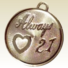 Always Love 21 Sterling Charm Beau