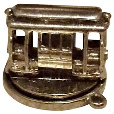 Moving Cable Car On Platform Sterling Silver