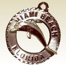 Miami Beach Sterling Silver Charm Travel